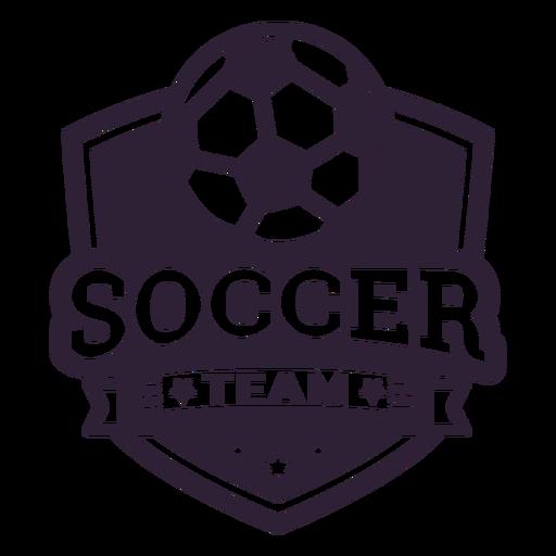 Etiqueta do emblema estrela de bola de time de futebol Transparent PNG