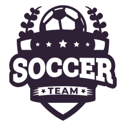 Soccer team ball star branch badge sticker
