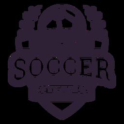 Soccer team ball star branch badge sticker