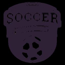 Adesivo de distintivo de bola de torneio de futebol