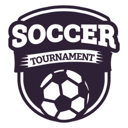 Soccer tournament ball badge sticker