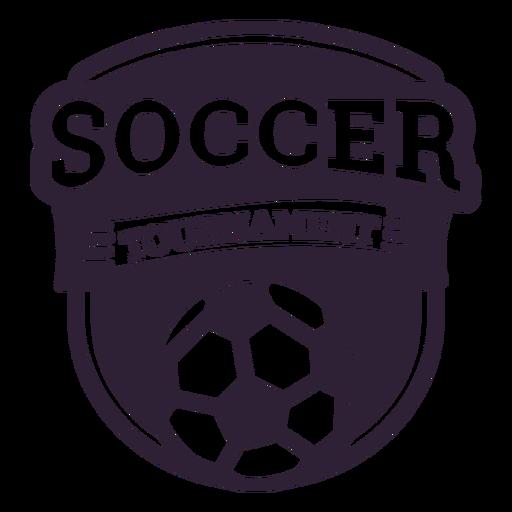 Adesivo de distintivo de bola de torneio de futebol Transparent PNG