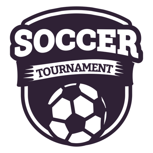 Etiqueta engomada de la insignia de la pelota del torneo de fútbol