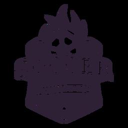 Adesivo de distintivo estrela de bola de torneio de futebol