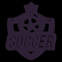 Adesivo de distintivo de coroa de bola de futebol