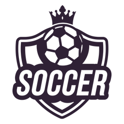 Soccer ball crown badge sticker