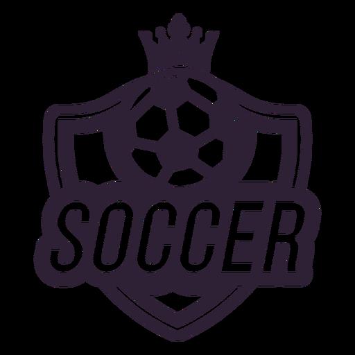 Etiqueta engomada de la insignia del balón de fútbol