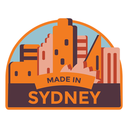Sydney made in sydney sticker