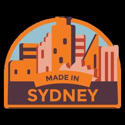 Sydney made in sydney sticker