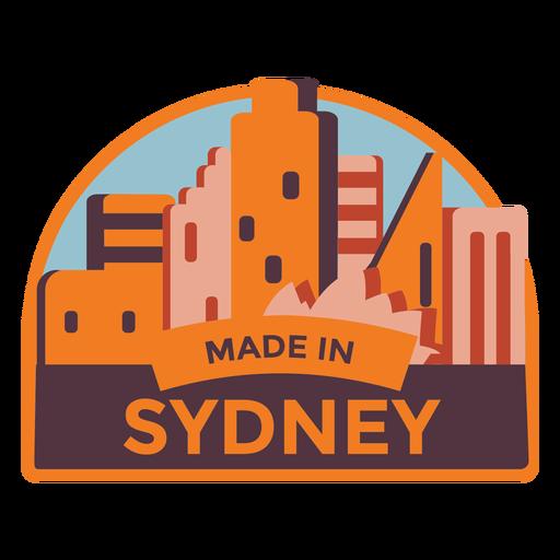Sydney made in sydney sticker Transparent PNG