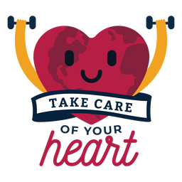 Take care of your heart heart badge sticker