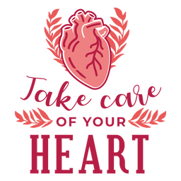 Take care of your heart heart branch badge sticker
