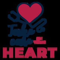 Cuide do seu distintivo de estetoscópio coração coração adesivo
