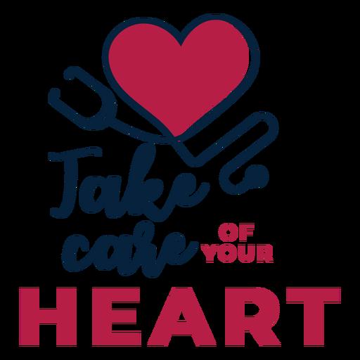 Cuida la etiqueta engomada de tu corazón. Transparent PNG