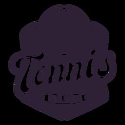 Etiqueta engomada de la insignia de la pelota del club de tenis