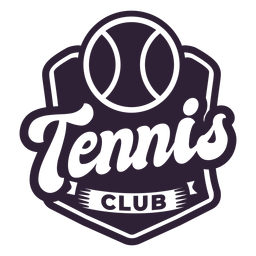 Tennis club ball badge sticker
