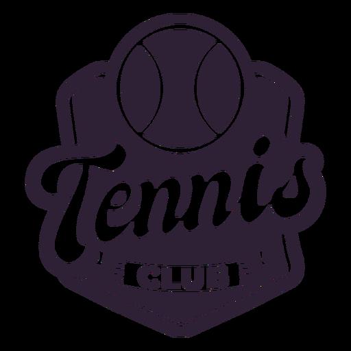Tennis club ball badge sticker