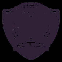 Adesivo de distintivo de ramo de bola de tênis clube
