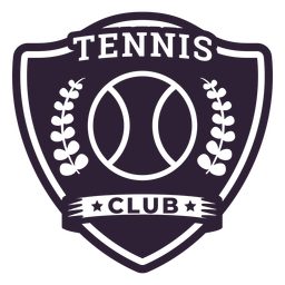 Etiqueta engomada de la insignia de la rama de la pelota del club de tenis