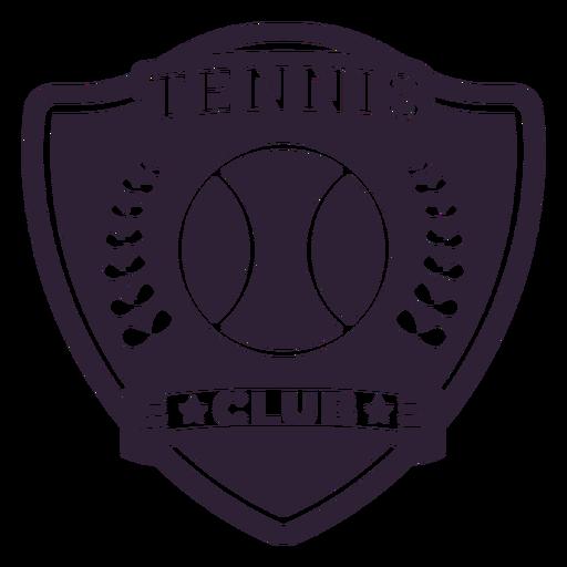 Tennis club ball branch badge sticker