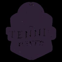Etiqueta engomada de la insignia de la estrella de la pelota del club de tenis