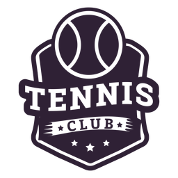 Insignia de estrella de pelota de club de tenis