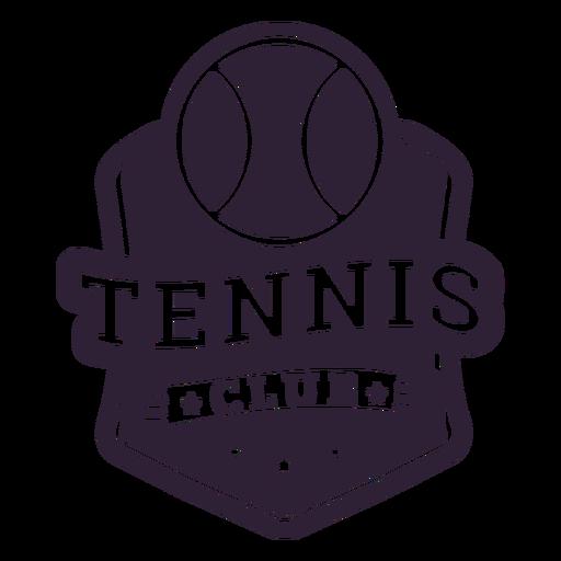 Tennis club ball star badge sticker