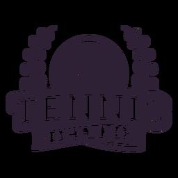 Adesivo de crachá de bola no ramo do clube de tênis