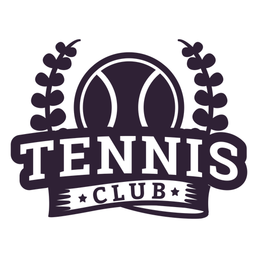 Tennis club branch ball badge sticker Transparent PNG