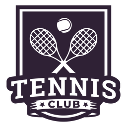 Adesivo de distintivo de bola de raquete de clube de tênis