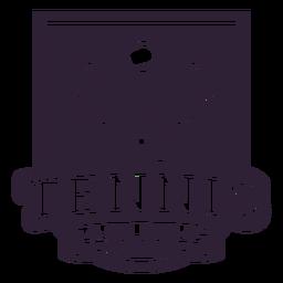 Etiqueta engomada de la insignia de la bola de la raqueta del club de tenis