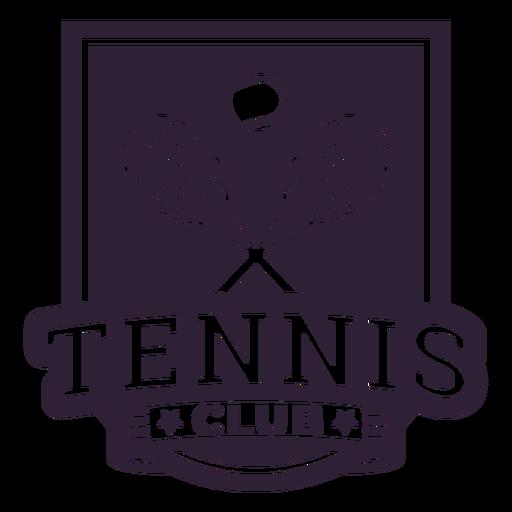 Tennis club racket ball badge sticker