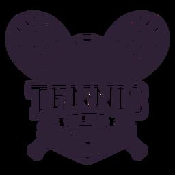 Club de tenis raqueta bola estrella insignia