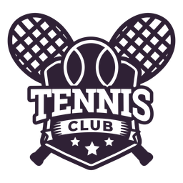 Etiqueta engomada de la insignia de la estrella de la bola de la raqueta del club de tenis