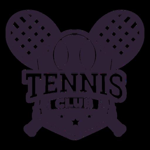 Etiqueta engomada de la insignia de la estrella de la bola de la raqueta del club de tenis Transparent PNG