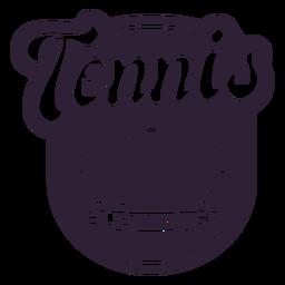 Etiqueta engomada de la insignia de la rama de la pelota de la liga de tenis
