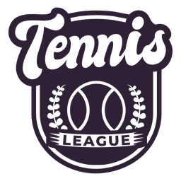 Tennis league ball branch badge sticker