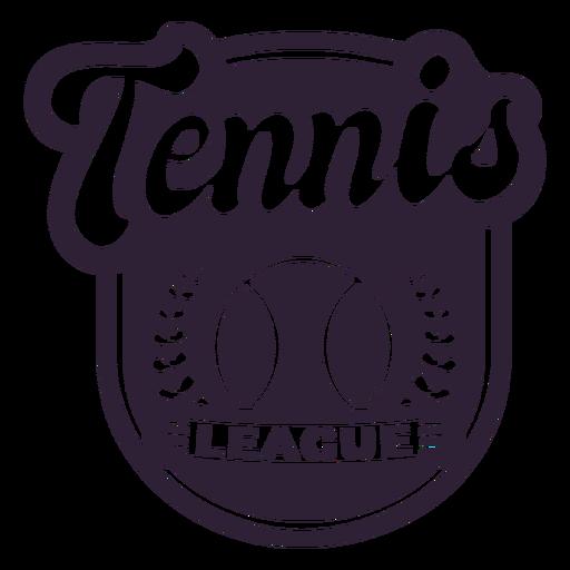Tennis league ball branch badge sticker