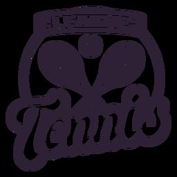 Etiqueta engomada de la insignia de la raqueta de pelota de la liga de tenis