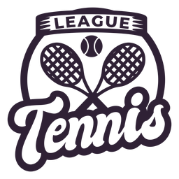 Insignia de raqueta de pelota de la liga de tenis