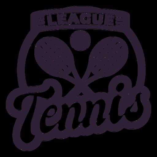 Tennis league ball racket badge sticker