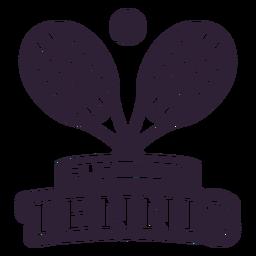Etiqueta engomada de la insignia de la bola de la raqueta de la liga de tenis