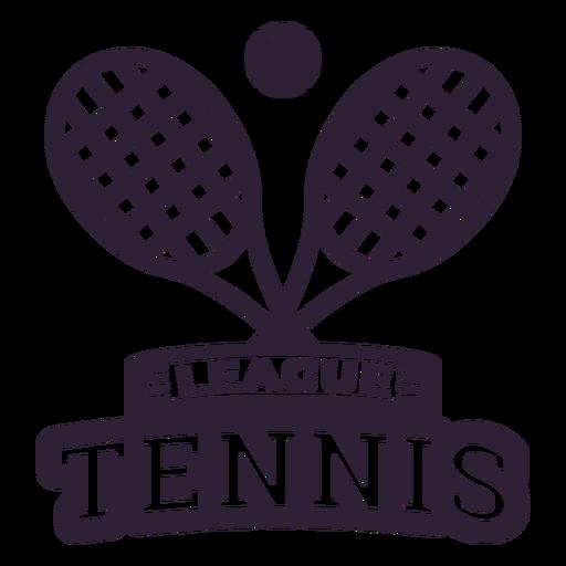 Tennis league racket ball badge sticker