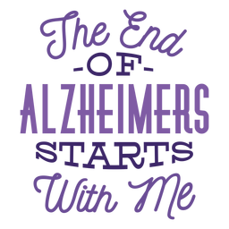 Das Ende der Alzheimer beginnt mit mir Aufkleber Abzeichen