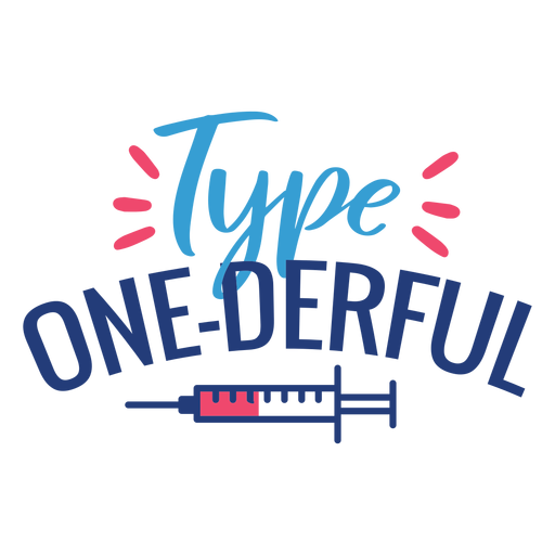 Type one derful syringe squirt badge sticker Transparent PNG