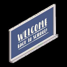 Bem-vindo de volta ao giz do conselho escolar