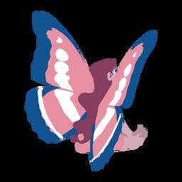 Wing fairy sitting flat