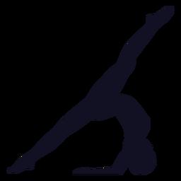Silueta de gimnasta ejercicio mujer