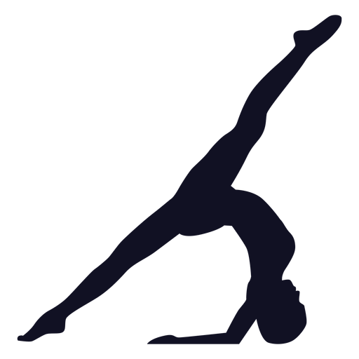 Silueta de gimnasta de ejercicio de mujer Transparent PNG