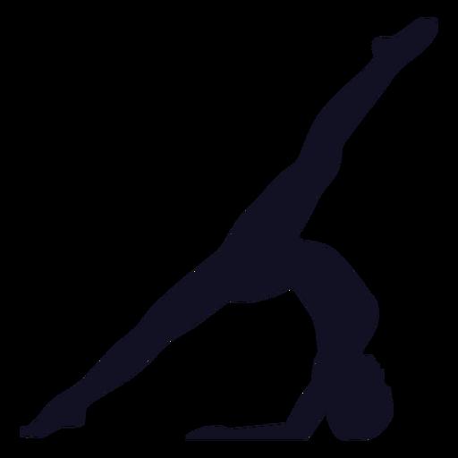 Silueta de gimnasta ejercicio mujer Transparent PNG